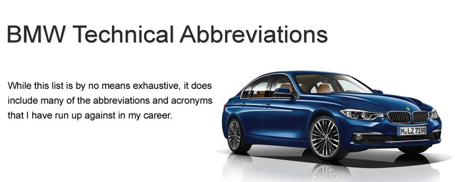 دیکشنری اصطلاحات خودرو BMW - ناسیکوتک